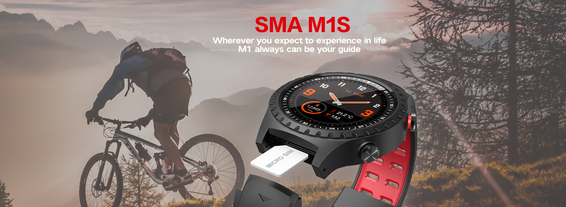 GPS smart phone watch with heart rate monitor running climbing and bicycling pedometer and call remind