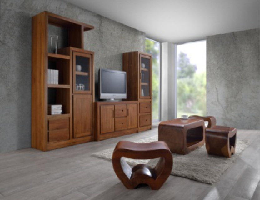Wooden Stylish TV Cabinet Home Living Room Furniture