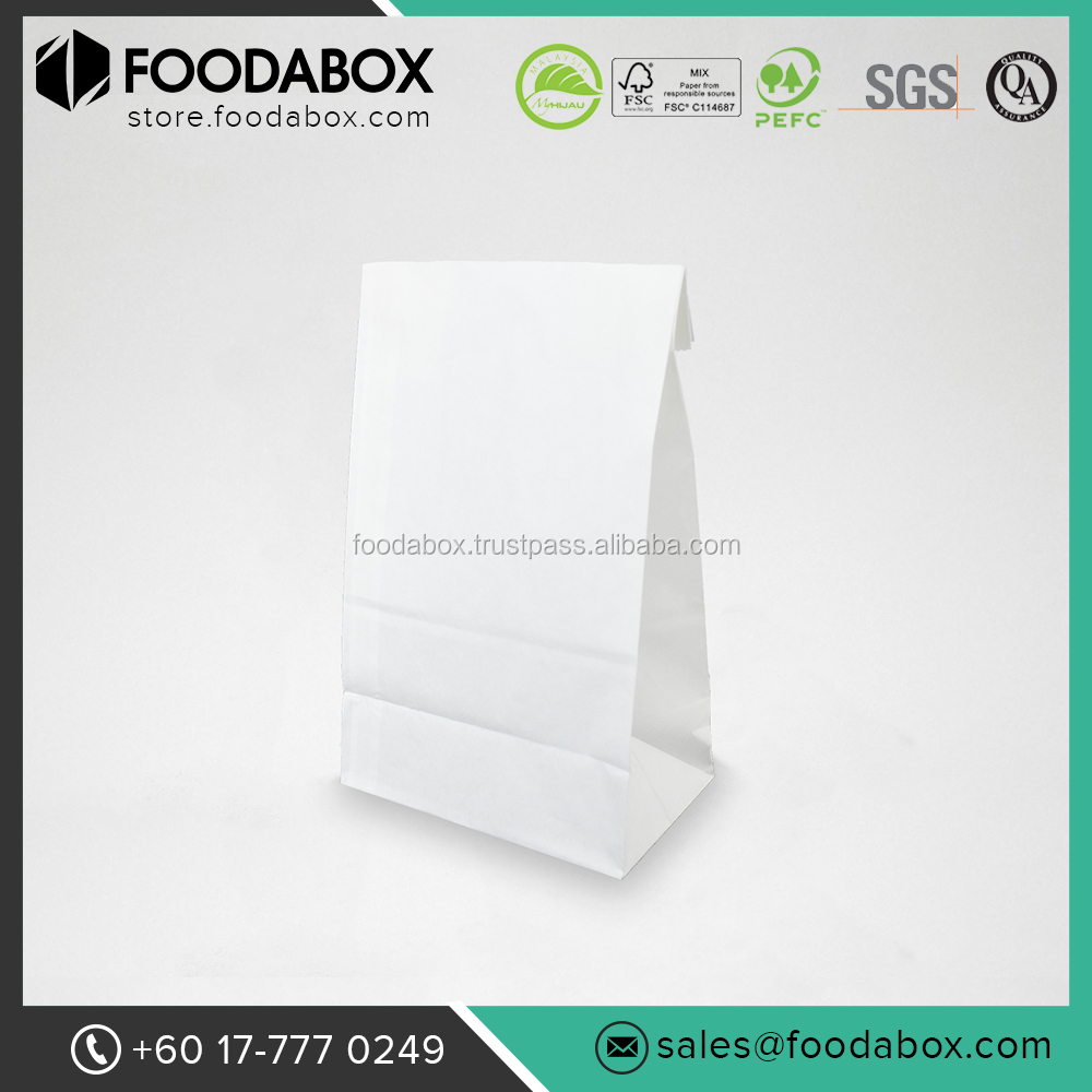 High Quality Bread Packaging White Paper Bag #SOS6