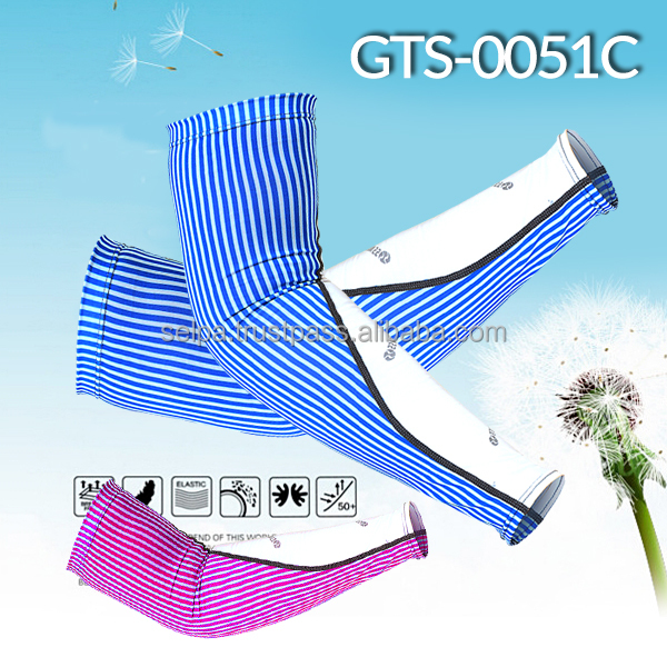 Dynamic Striped Pattern Arm Sleeves UV Protection Cooler Arm Sleeves for All Sports Activities/Recovery