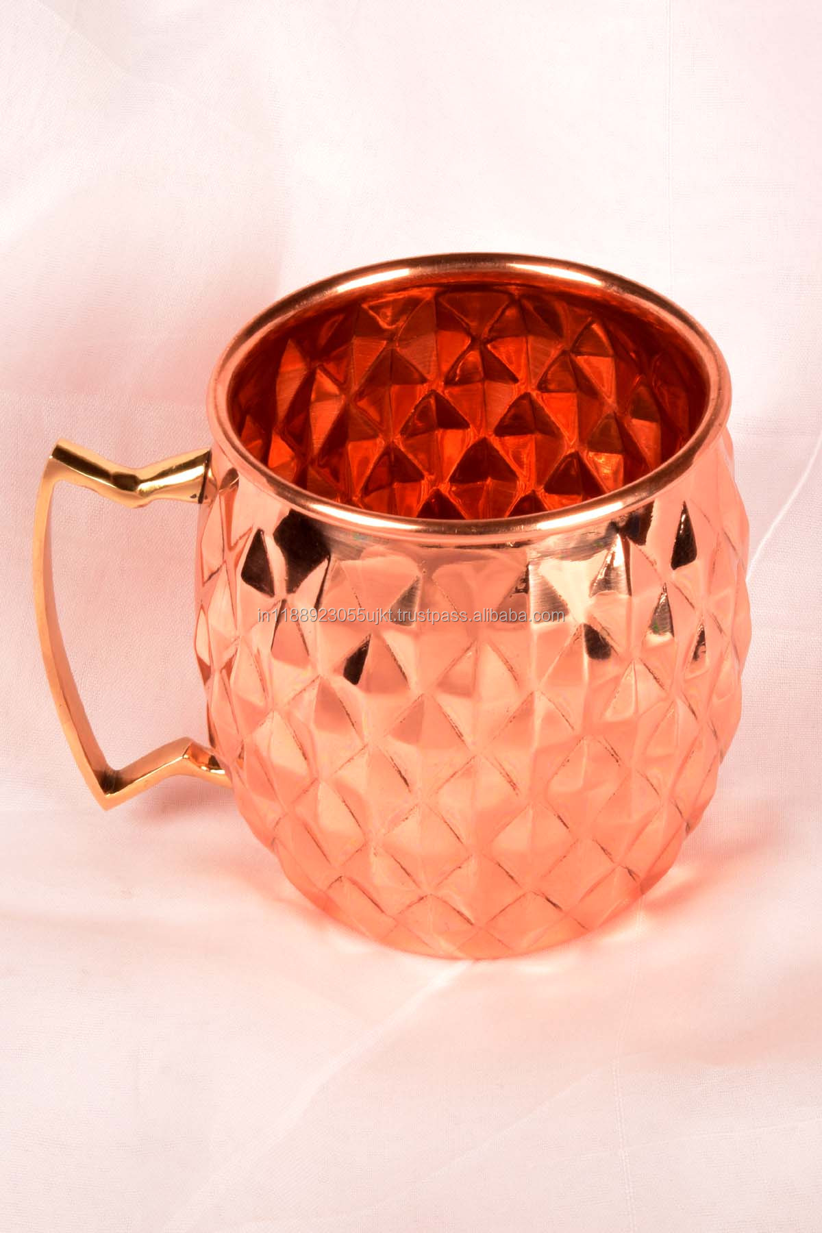 DIAMOND MOSCOW MULE COPPER MUG