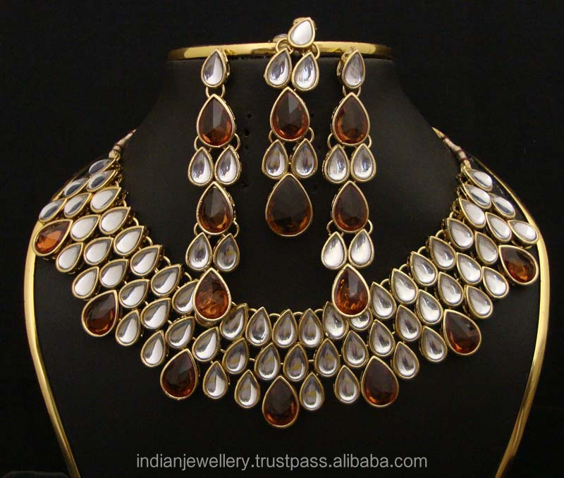 kundan Polki jewelry exporter, indian bridal kundan jewellery manufacturer