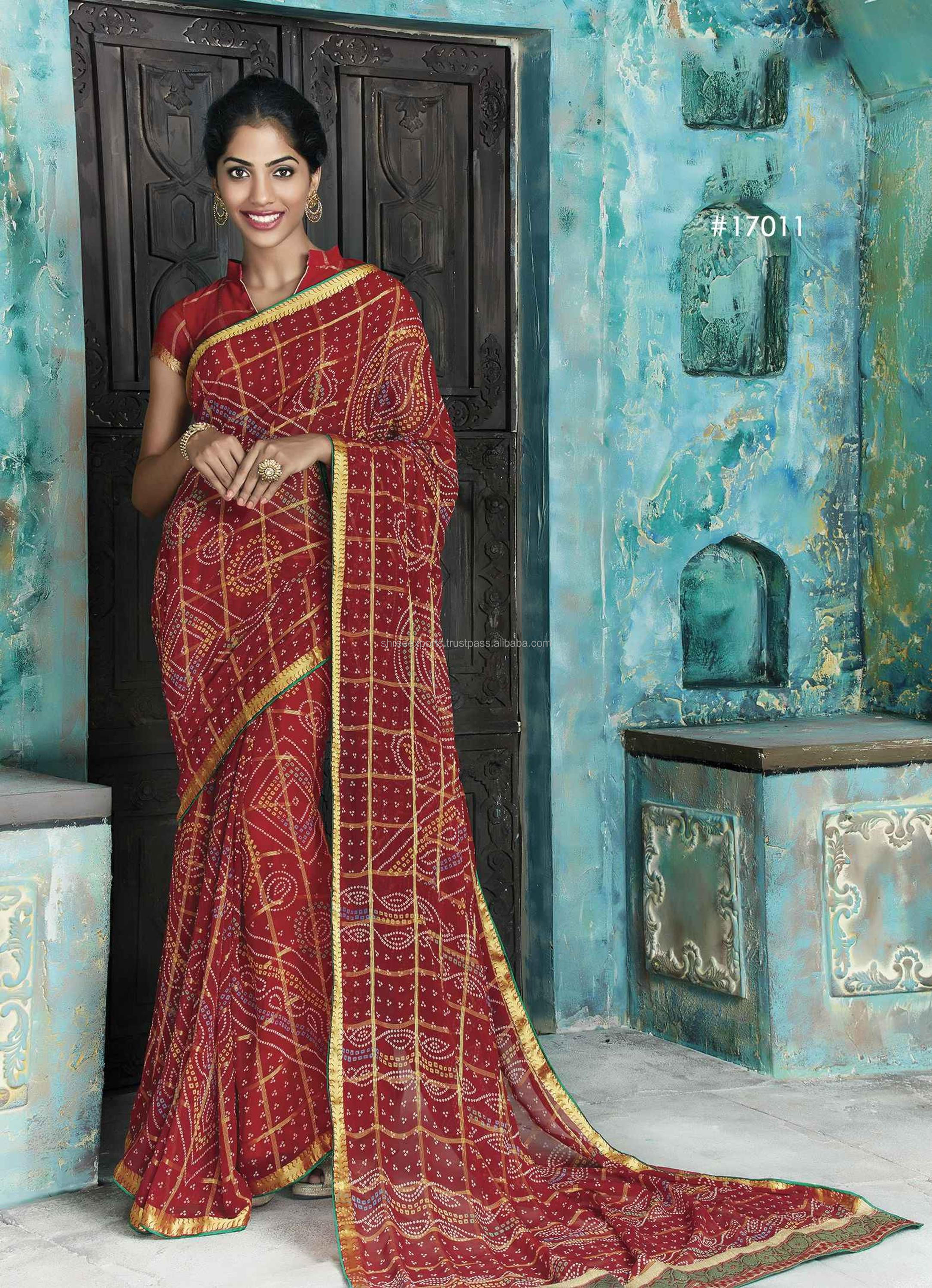 Georgette Multi Color Designer Saree / Sarees Online Buy / Online Saree Shopping / Sarees On Online Shopping