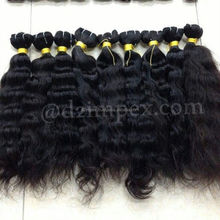 Wholesale Full cuticles Indian 100% pure remy hair extensions cheap real unprocessed 7a virgin remy human hair Extensions 90 cm