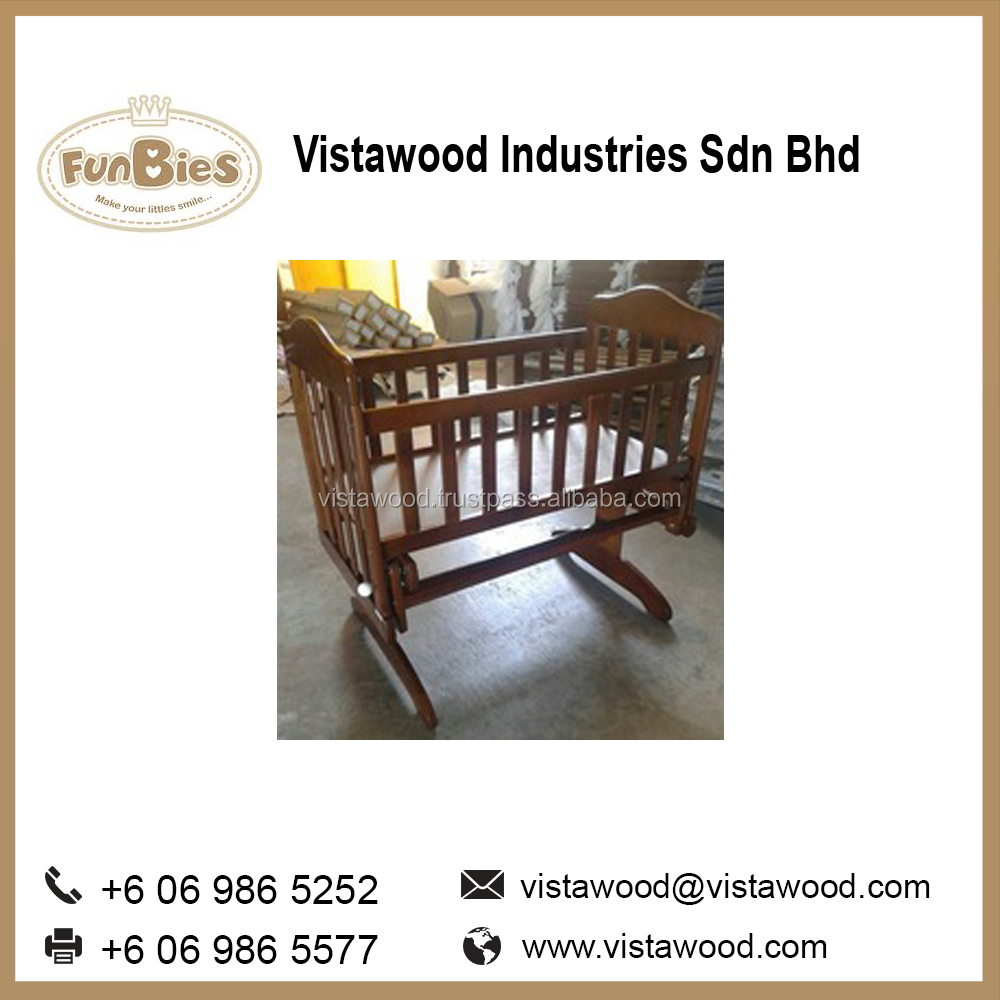 Antique wooden baby playpen furniture swing cradle