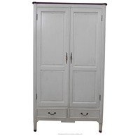 White Painted Furniture - Wooden Wardrobe French Style