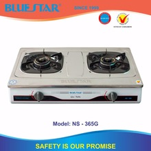 gas stove 2 burner stainless steel top plate 82-82mm