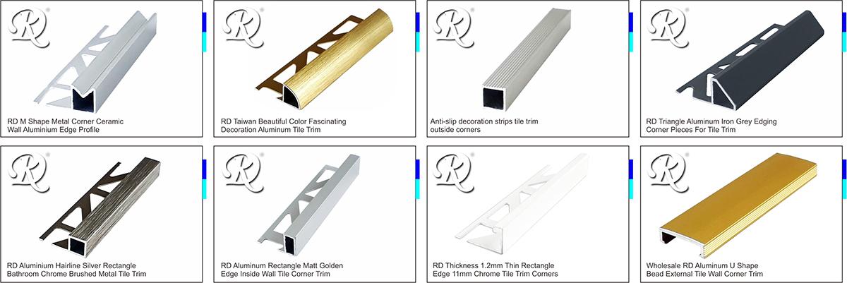 RICK DAVID INTERNATIONAL CO LTD Satinless Steel Tile Trim - Ceramic tile trim shapes