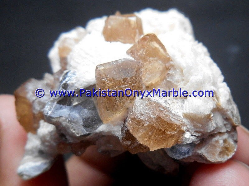 BEST HIGH QUALITY TOPAZ SPECIMENS BUNCH WITH FLUORITE FROM VALLEY SKARDU PAKISTAN