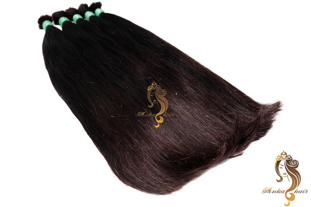 Cabelo Bruto Unico_30cm_Reto_100% Cabelo humano natural do Vietname_Single Drawn Bulk Hair_30cm_100% natural Brazilian hair