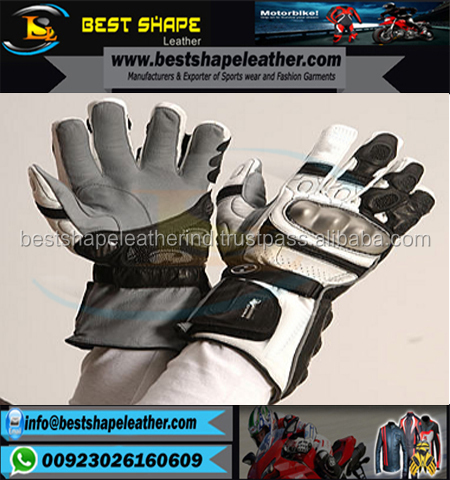 Professional Sports Motorbike full Finger Riding Gloves /Motorbike racing gloves with knuckle finger protection short cuff
