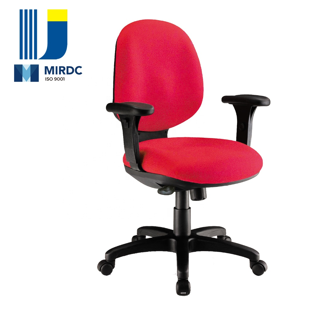 heavy duty adjustable swivel PU foam office upholstered chair with middle back synchronous mechanism 2168BX