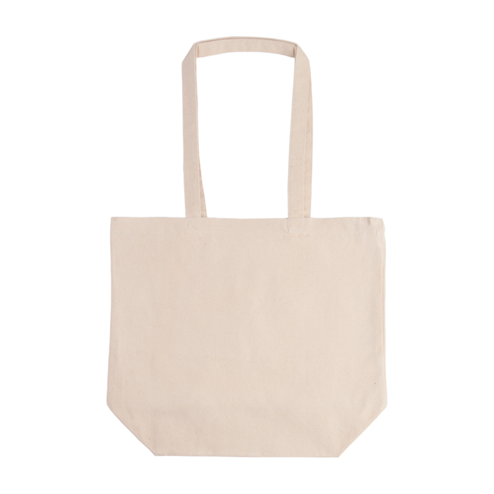 "17.75""w x 15.75""h x 6.25""d 10 oz. 100% Cotton Canvas Grocery Tote Bag"