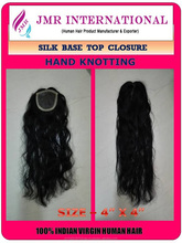 Virgin Hair Deep Wavy 4x4 Natural Hair Line Silk Base Top Closure