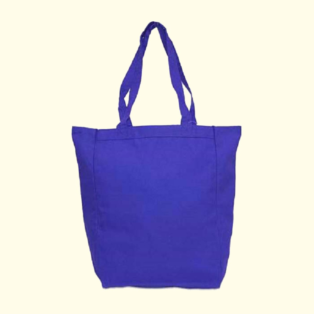 "Reusable foldable bags shopping bag with 22"" cotton canvas handles"