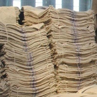cheap used natural jute fabric bag / fat sack/sand hemp sacks with bottom price