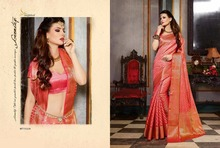 pink bridal saree/hand embroidery designs for saree pallu/saree wearing patterns/Utsav