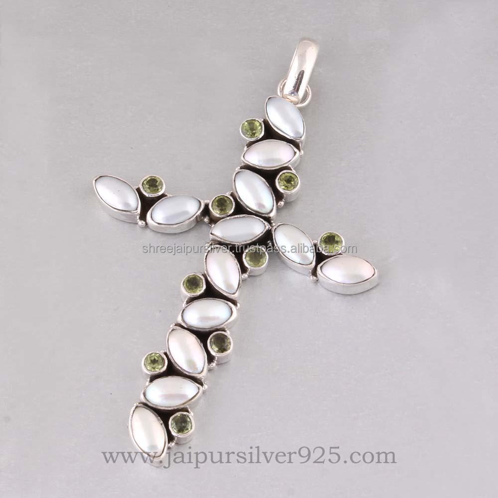 india pavilion alibaba com 925 sterling silver multi gemstone designer cross pendant