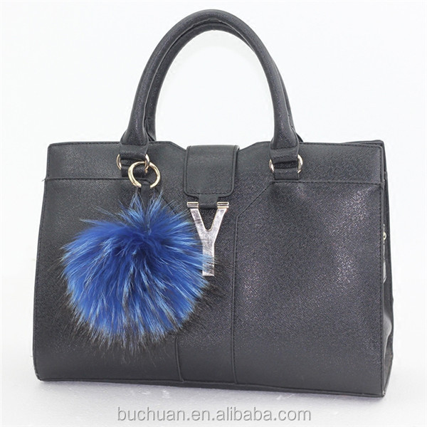 Wholesale Factory Price Real Fur Pom Pom Keychain