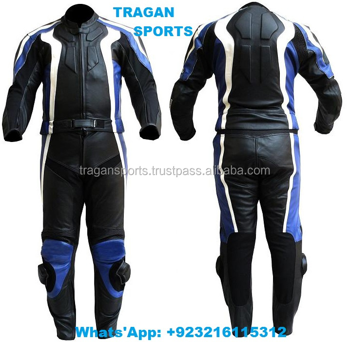 LEATHER MOTORCYCLE RACING SUIT / MOTORBIKE LEATHER SUIT