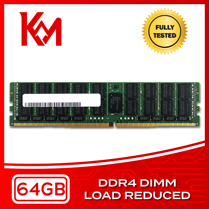 Server Memory 64GB DDR4 Load Reduced DIMM RAM 2133MHz, 2400MHz
