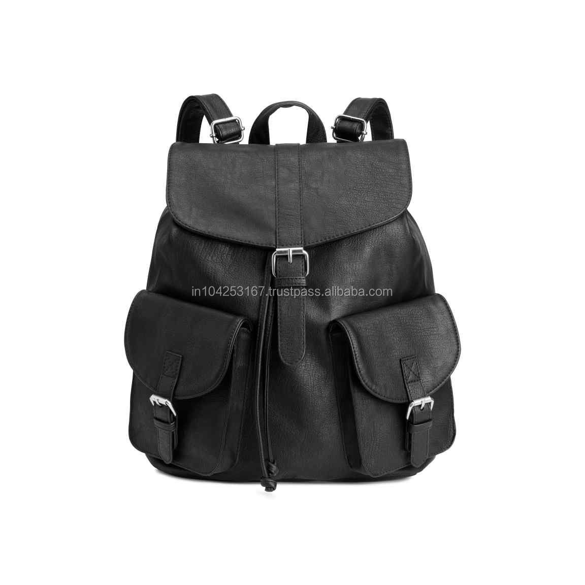 black leather backpack pattern for men