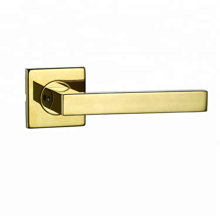 main luxury door handle gold door handle stainless steel 304 door lever handle black square