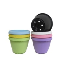 Mulit-color hanging small flower plant pot plastic