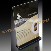 tabletop menu display stand A4 clear acrylic sign holder