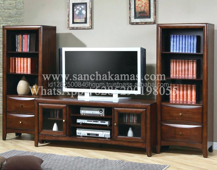 Good Quality Wooden TV Cabinet with special price msade in Indonesia