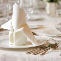 Table cloth and Napkins for Hotels in white and dyed
