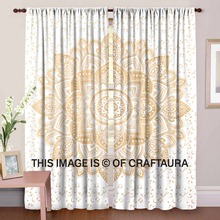 Wall Tapestry Indian Wholesale Gold Ombre Mandala Decorative Curtains Window Drapery Decor