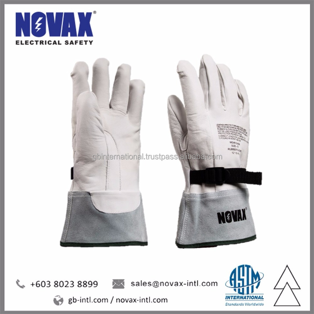 Leather Safety Gloves NOVAX Electrical Insulation Material Manufacturer in Malaysia