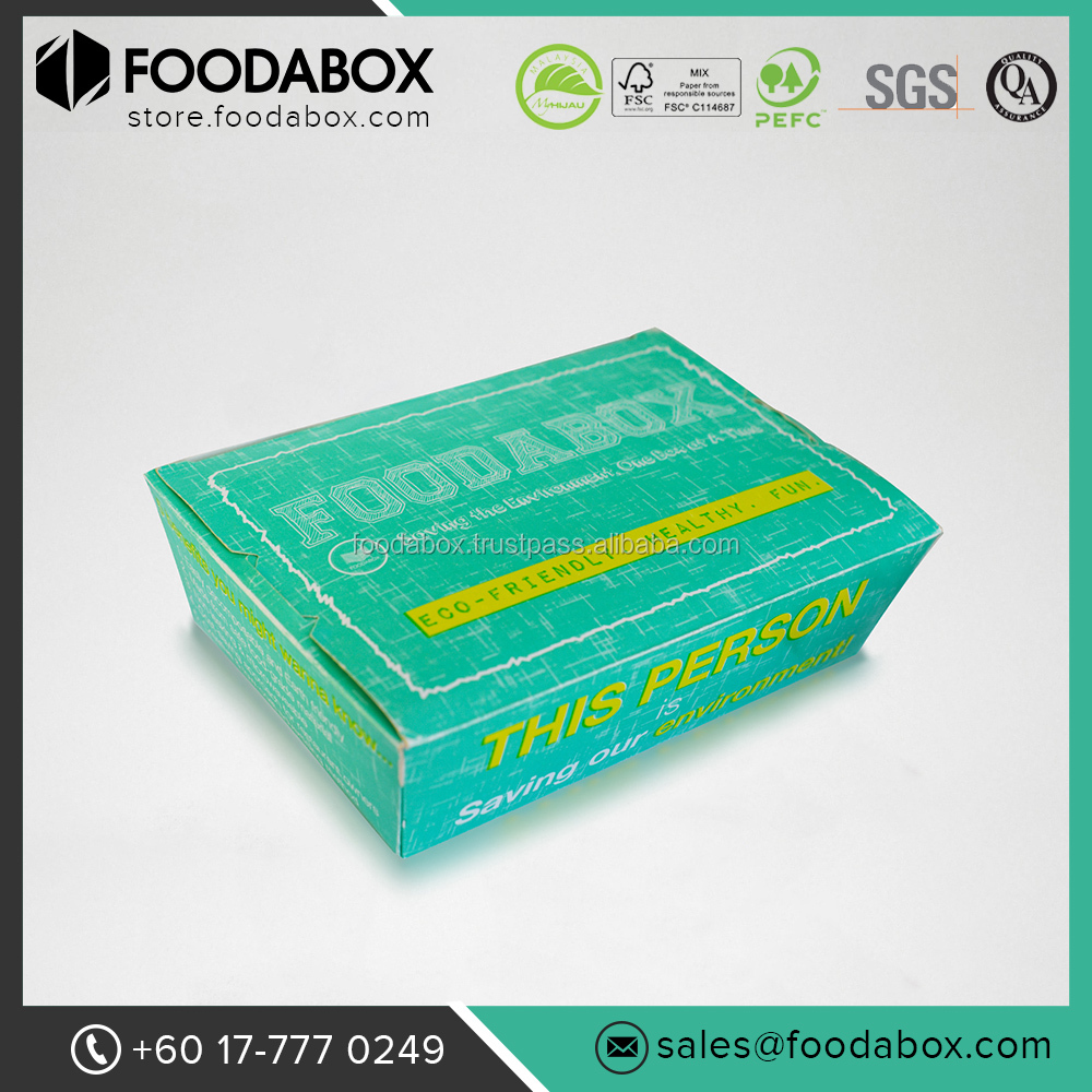 Good Quality Disposable Food Grade Take away Custom Print Paper Lunch Box Packaging