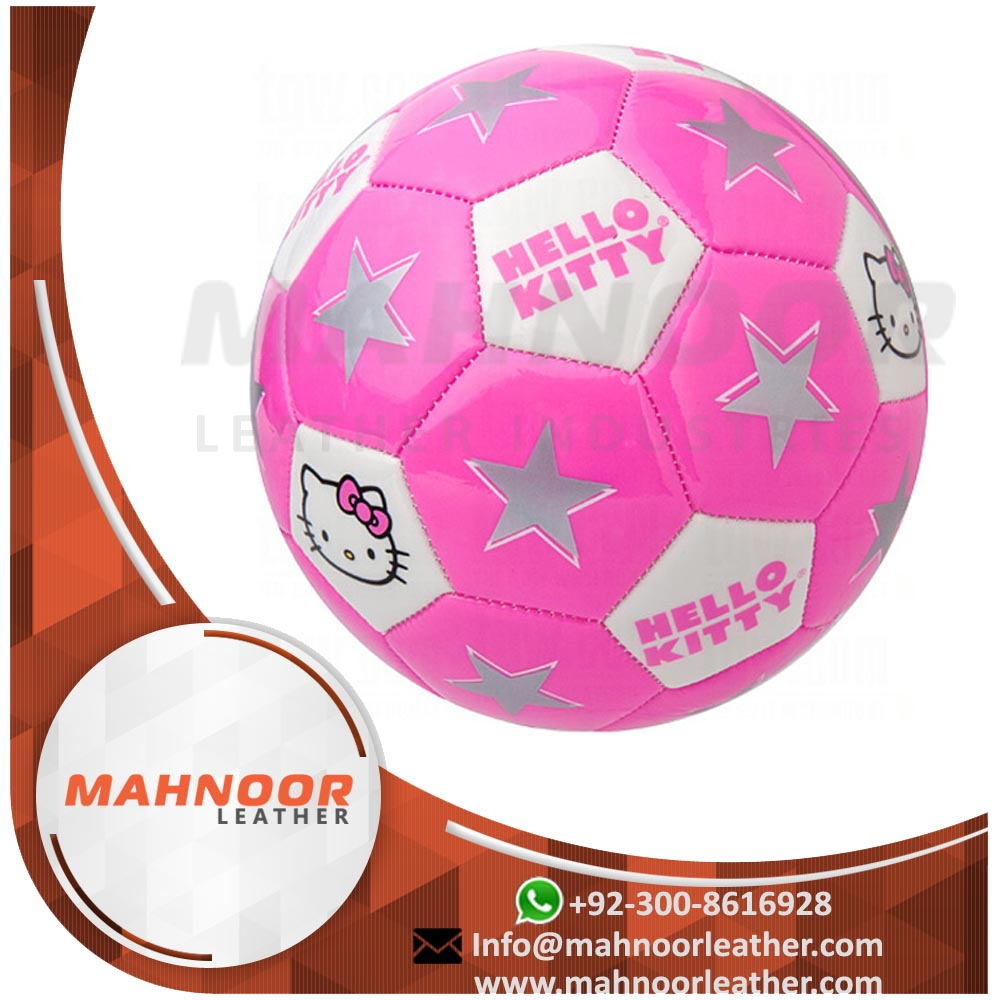 Games Promotional Soccer Super PVC Leather Ball For World Cup