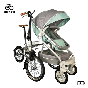Quick Folding 2 In 1 Baby And Mother Bike Trailer Stroller