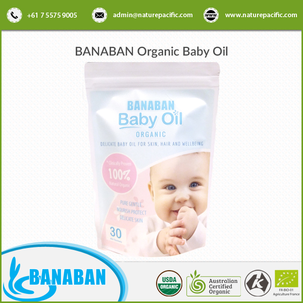 Organic and Natural Banaban Coconut Baby Massage Oil Available at Wholesale Rate
