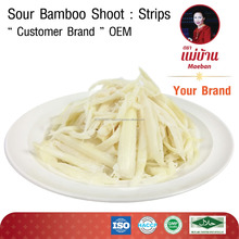 SOUR BAMBOO SHOOT Strips OEM Vacuum Package GMP HACCP ISO