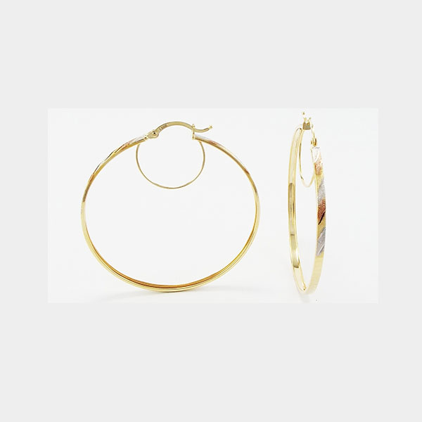 Eleanor Hoop Earrings in 18k Gold Fashion Jewelry Ear Ring
