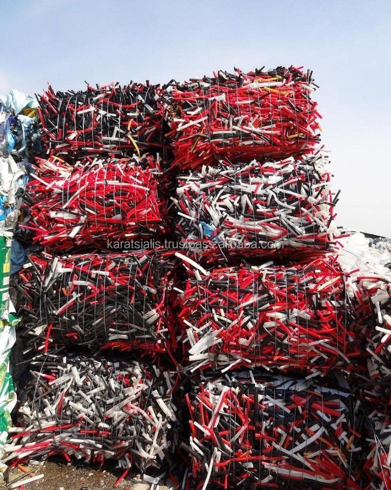 PEX PIPES MIX COLORS BALES SCRAP - WASTE