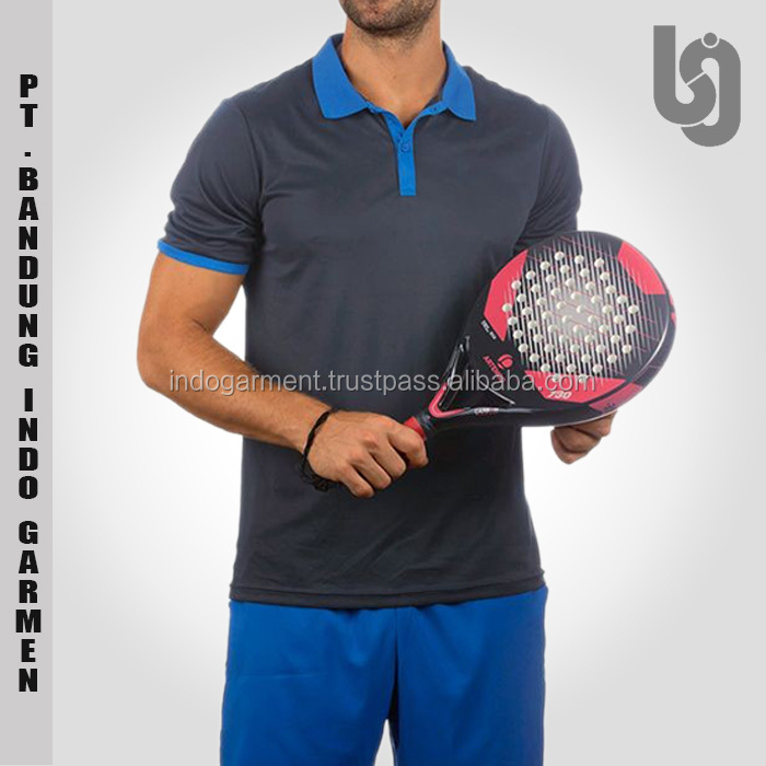 Cotton Polyester Custom Badminton Table Tennis Polo Shirt