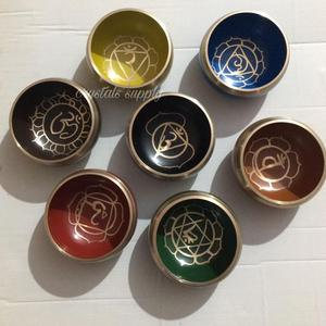 Seven Chakra Tibetan Singing Bowl Set With Stick : Wholesale Tibetan Singing Bowl For Meditation