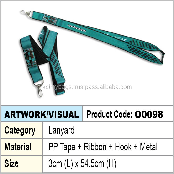 PP Tape + Hook + Metal + Ribbon lanyard