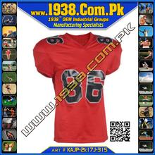 Amercian Football Red Jersey and White & Black Number
