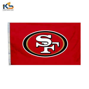 100% Polyester screen printed Custom Flags