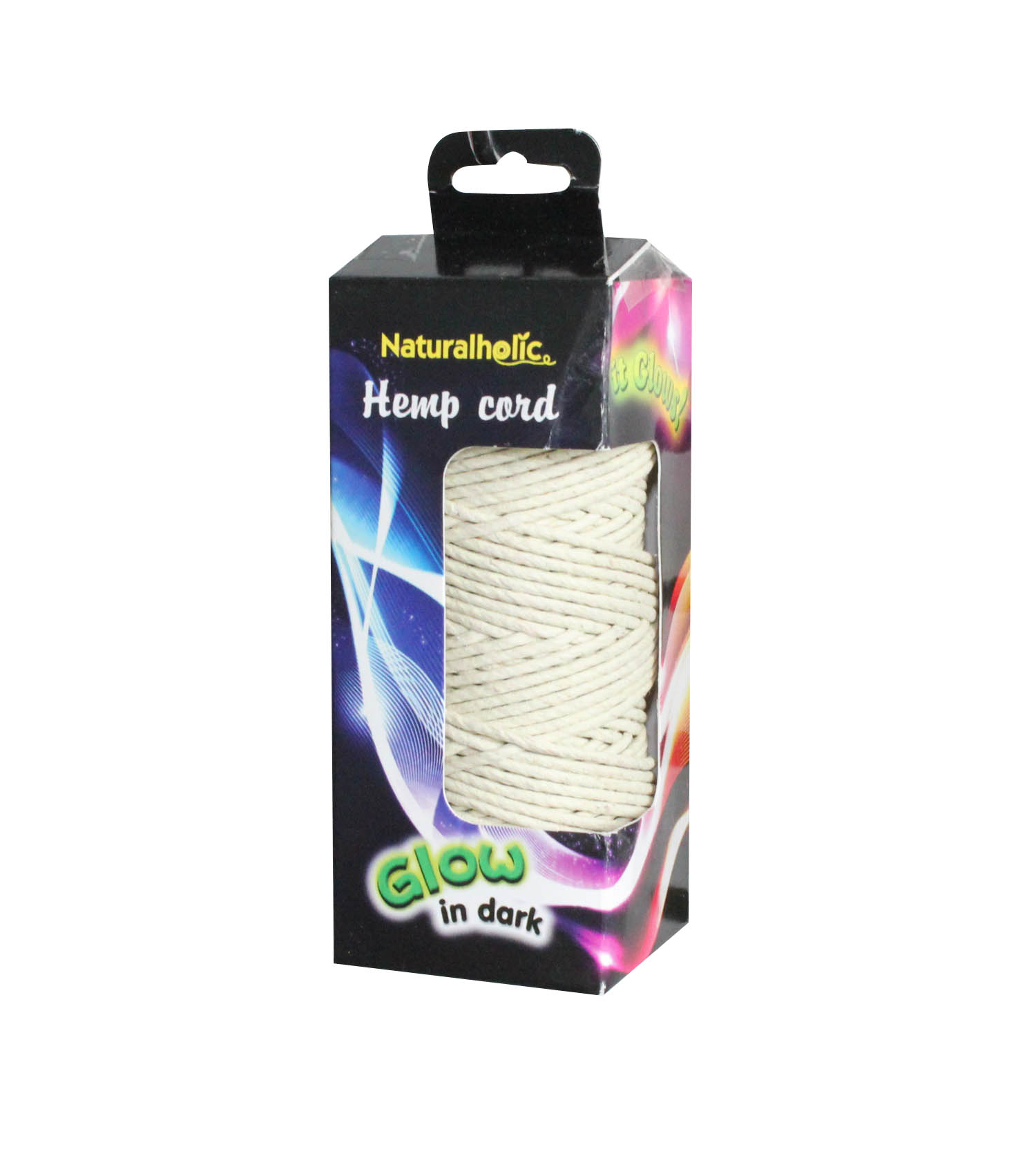 ONE Pack to SELL! 50yards Glow in Dark effect Hemp Twine PET STRING, OUTDOOR CORD