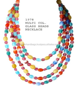 Glass Bead Costume Necklace and Fashion Jewelry