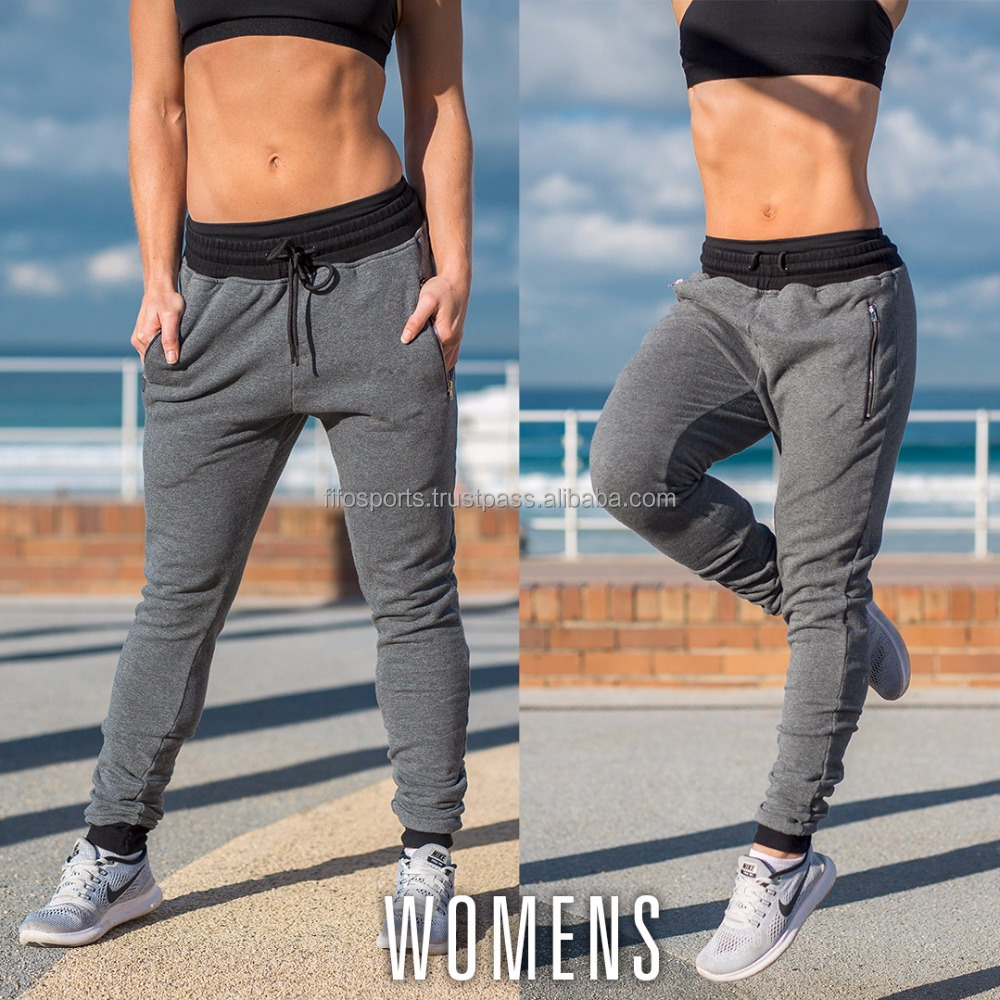 Export goods skinny jogger pants ladies sports pants