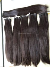Hand Tied Weft Hair Extensions - Human Hair Weft Original Virgin Remy, Body wave, straight, curly virgin human hair-Unprocessed