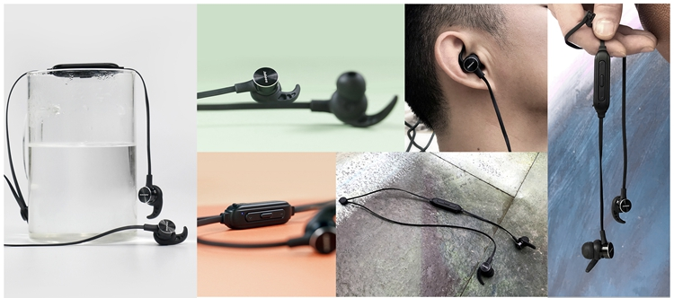 Jabees Earbuds Bluetooth Earphone & Headphone Magnetic Switch System Wireless Headset with Remote Selfie Shutter